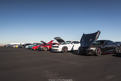 Lineup (Hunter J. G. Frim Photography) Tags: supercar colorado track invictus jaguar ftype coupe r v8 supercharged green british carbon jaguarftype jaguarftypecouper dodge challenger srt hellcat white dodgechallengerhellcat