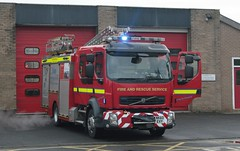 NK60 EVY (Ben - NorthEast Photographer) Tags: northumberland fire rescue service volvo fl appliance pumping pump ladder hexham station rds retained duty system oncall 60plate old nk60 evy nk60evy
