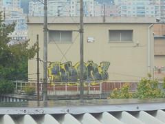 787 (en-ri) Tags: keor zrbs nero giallo genova zena wall muro graffiti writing
