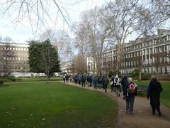 UK - London - Bloomsbury - Walking through Gordon Square Garden (JulesFoto) Tags: uk london england southbankramblers bloomsbury walking