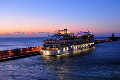 Cruise Ship at Blue hour (Sunset) (natureloving) Tags: sunset sea cruiseship ship seaatsunset sky nature natureloving nikon d90 nikonafsdxnikkor18300mmf3563gedvr bluehour