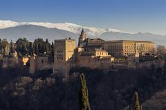 Alhambra (Granada) (U2iano) Tags: alhambra granada españa spain sierra nevada atardecer sunset andalucia andalusi alcazar nazari nazaries carlos v palacio palace