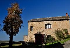 scène de village (jean-marc losey) Tags: france occitanie tarn puycelsi maison pierre arbre tree automne autumn randonnée d700