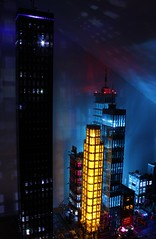 Night Skyline LegoNYC (sponki25) Tags: legonyc lego moc nyc new york city streets night lights skyline