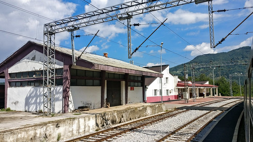 Train in Kolasin, Montenegro