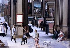 IMG_5669B Hendrik van Steenwijck l 1550-1603. Anvers Francfort sur le Main. Intérieur d'une église médiévale  Interior of a Medieval Church. vers 1585. Hambourg Kunsthalle. (jean louis mazieres) Tags: peintres peintures painting musée museum museo deutschland germany allemagne hamburg kunsthalle