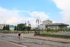 The central part of Tomsk city (man_from_siberia) Tags: tomsk city siberia russia summer august томск город сибирь россия лето street canon eos 1100d dslr canoneos1100d canon1100d canonrebelt3 canoneoskissx50 canonkitlens kitlens canonefs1855mmf3556iii canonefs1855mmf3556dciii canonefs1855mm