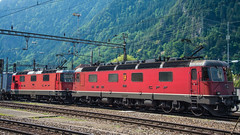 SBB Re 6'6 11685 & Re 4'4 2 11140 Erstfeld 16 July 2015 (2) (BaggieWeave) Tags: switzerland swiss swissrailways swisstrains erstfeld gotthardrailway gotthard gotthardbahn sbb cff ffs re44 re66