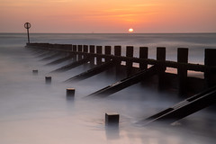 Sun Up (PeskyMesky) Tags: aberdeen aberdeenbeach longexposure water scotland sunrise sunset sea ocean sun landscape groyne canon canon5d eos