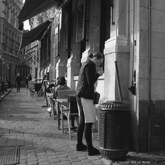 Cig Break (Spotmatix) Tags: 1232mm belgium brussels camera effects lens monochrome omdem10ii olympus places street streetphotography zoomstd