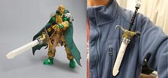 Silver Lining (Poor Disadvantaged) Tags: lego bionicle constraction sword tornado badge brick knight fancy rapier