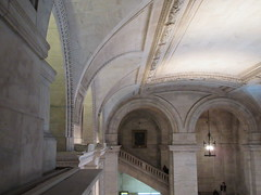 New York Public Library Entrance Hall Lobby 3618 (Brechtbug) Tags: new york public library entrance hall lobby 5th ave facade city interior stairs staircase stone marble 2019 nyc 03122019 art architecture designed by artist sculptor paul wayland bartlett carved the piccirilli brothers was two lions main branch stephen a schwarzman building consolidation astor lenox libraries beaux arts design style