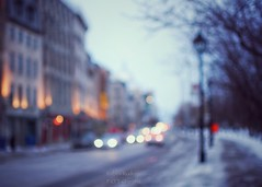 Nothing else matters (Mister Blur) Tags: nothing else matters mood atmosphere blurry lights street blur luces calle desenfoque old vieux montreal cars passing by winter invierno dusk atardecer sunset ocaso snow nieve quebec canada snapseed apocalyptica nikon d7100 35mm f18 rubén rodrigo fotografía