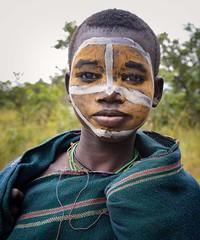 Suri Tribe (Rod Waddington) Tags: africa african afrique afrika äthiopien ethiopia ethiopian ethnic ethnicity etiopia ethiopie etiopian outdoor omovalley omo omoriver suri tribe traditional tribal female portrait painted face culture cultural