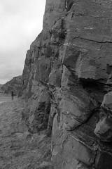 Cliffs,Collieston_Mar 19_533 (Alan Longmuir.) Tags: monochrome grampian aberdeenshire collieston cliffs