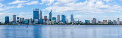 Perth skyline #2 taken in 2017 - as a comparison to #1, taken 2009 (Peter.Stokes) Tags: yellow australia city cityscape river swanriver photography photo colour perth wa skyline