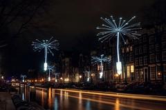 Light a Wish (alowlandr) Tags: night dandelion herengracht lighttrail house illuminated canal amsterdam amsterdamlightfestival