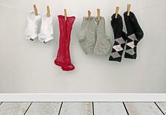 Laundry room (tmattioni) Tags: socks winter mine hanginguptodry