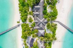 Two way street (icemanphotos) Tags: aerial drone palm landscape paradise island