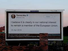 The sun sets on Theresa May.... (stillunusual) Tags: manchester billboard ledbydonkeys theresamay brexit street streetphotography a34 kingsway urban urbanscenery mcr city england uk 2019