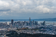 san bruno mountain skyline (pbo31) Tags: bayarea california nikon d810 color march 2019 boury pbo31 sanfrancisco over view sanbrunomountain park sanmateocounty skyline city salesforce sky rooftops