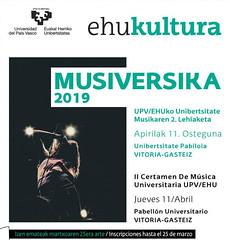 Musiversika 2019 (EHUkultura) Tags: upvehu ehu musiversika univerisdad unibertsitatea música musika