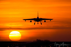 RAF Tornado GR4 ZE116/116 12(B) Sqn - RAF Marham, UK (Ashley Wallace Photography) Tags: flickr squadron bats goldstars vapour sky image photo nikon winter photography aviation aircraft fighterjet orange sunset tonka finale mightyfin tornadofarewell unitedkingdom uk rafmarham royalairforce raf tornadogr4