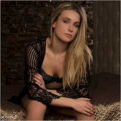 Marith: Black Lingerie (Peter Heuts) Tags: marith february 2017 netherlands peter heuts photography sony a99mark2 alpha 99m2 full frame beauty beautiful dutch dutchgirl dutchmodel dutchbeauty nederlands nederlandsmodel niederländischesmodell niederlande pays bas fillehollandaise modelshoot jeans model extremebeauty extremelybeautiful supersexy lace curtain vitrage pink roze minoltaf1450mm minolta f14 50mm availablelight naturallight natuurlijklicht daglicht daylight