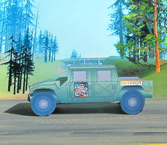 The Patriot Hummer Military Vehicle Paper Model And Tommy Vercetti Paper Figure From PS2 Grand Theft Auto Vice City Game : Diorama GTA San Andreas Game Scenery - 14 Of 14 (Kelvin64) Tags: the patriot hummer military vehicle paper model and tommy vercetti figure from ps2 grand theft auto vice city game diorama gta san andreas scenery