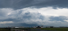 Airport Thunderstorm Cell (Ben_Senior) Tags: montreal quebec canada cyul yul montrealairport montrealinternationalairport dorvalairport dorval airport cloud clouds cloudy cumulus storm thunderstorm stormclouds tcu toweringcumulus bensenior planespotting petairport