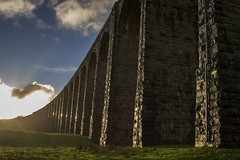 Ribblehead_16 (julesh1966@googlemail.com) Tags: ribbleheadviaduct northyorkshire yorkshiredales sunrise clouds railway landscape grassland ingleborough colour autumn ariel drone