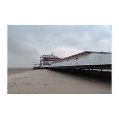 Britannia Pier (John Pettigrew) Tags: lines tamron d750 2470mm pier space empty perspective light documentary beach imanoot banal topographics desolate shadow deserted mundane nikon angles johnpettigrew seaside