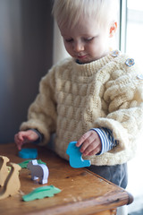Day 326 / Y7. (evilibby) Tags: arthur baby toddler noahsark play playing woodentoys woodenanimals project365