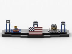 Saturn V Display mit Saturn V_3 (Knackepeter) Tags: lego moc saturn v nasa apollo space 21309 rebrickable bricklink lxf ldd studio