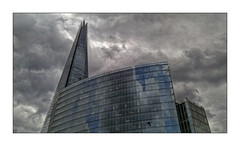 The Shard (Jean-Louis DUMAS) Tags: bâtiment building londres london artistique frame abstrait abstraction abstract artistic art architecte architectural architecture architect lignes géométrique design tower tour sky ciel cloud cloudly nuage orage storm