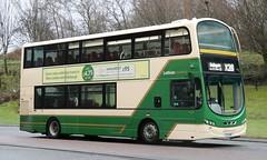 Lothian Country 1033 LXZ 5419 with a Bathgate  bound X28 service at Livingston Centre. (Gobbiner) Tags: eclipsegemini2 x28 lothiancountry bathgate b9tl 1033 livingston metrolinewest vw1874 volvo centrewest vn37922 wrightbus bf60vjc edinburgh lxz5419