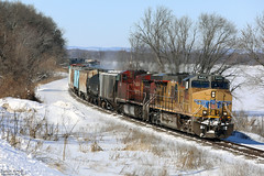 UP 5432 (Western WI Rail Images) Tags: up union pacific canadianpacific sun snow ice tracks trees train locomotive