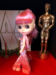"OSCARS 2019!! Snowflake shows the red carpet how its done in her open back pink satin jumpsuit with draping cowl collar. She is nominated for best supporting actress in ""Pink Champagne"". Jumpsuit: Painterslife. (Painters Life) Tags: redcarpet oscars2019 takara jumpsuit satin pink blythe snowflakesonata"