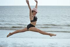 A jump for joy (radargeek) Tags: hiltonheadisland sc southcarolina beach june 2018 teen leap jump jumping leaping graceful bikini girl