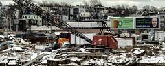 Billboards (PAJ880) Tags: billboards crane houses scrapyard industrial urban marine waterfront east boston ma threedeckers