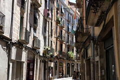 Street of Girona (wimgoolkate) Tags: girona street small summer fujifilm xt20 35mm catal catalunya spain 50mm cathedral