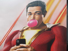 Shazam The Big Red Cheese Billboard 42nd St NYC 3750 (Brechtbug) Tags: shazam billboard 42nd street new captain marvel the big red cheese poster ad nyc 2019 times square movie billboards york city work working worker paint painting advertisement dc comic comics hero superhero alien dark knight bat adventure national periodicals publication book character near broadway shield s insignia blue forty second st fortysecond 03142019 lightning flight flying march