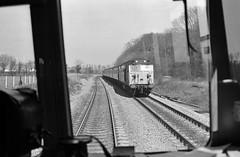 Berks & Hants UK  |  1980 (keithwilde152) Tags: class118 dmu class50 midgham berkshants uk 1980 railway journey cab landscape diesel locomotives