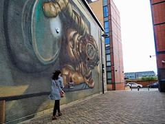 Mural (oneofmanybills) Tags: leeds southbankleeds mural brewerywharf diver street art