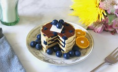 Blueberry Pancakes (-LittleJohn) Tags: lego food photography breakfast pancake blueberry design build moc creation model