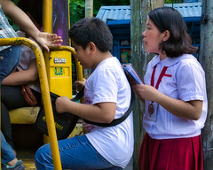 Make Room Please (Beegee49) Tags: street people children students public transport luminar sony a6000 bacolod city philippines asia