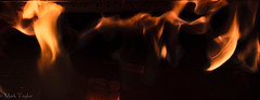 The ghost of Sparta is coming for you! (*Ranger*) Tags: nikond3300 impression abstract orange black ghost fire flame