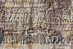 Wall Carvings (SdosRemedios) Tags: cambodia ancientkingdoms watthom siemreap siemreapprovince kh