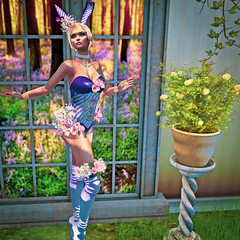 P.O.T.D. #17 (bonjour.bellic) Tags: easter candy bunny eggs flowers ears cute sexy kawaii hud mesh outfit costume contest clothes women boots shoes heels bodysuit garter gloves appliers maitreya belleza slink hourglass venus isis freya fantasy irrisistible shop roleplay rp fancy