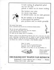 Renkum Zij-Kerkstraat 3 Advertentie 3 Drukkerij Wapen van Renkum 1973 Collectie Fien Bos (Historisch Genootschap Redichem) Tags: renkum zijkerkstraat 3 advertentie drukkerij wapen van 1973 collectie fien bos
